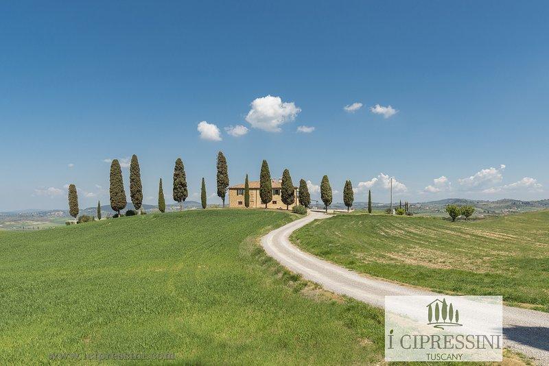 I Cipressini Tuscany Private luxury villa, pool spa Pienza Siena Italy, Ferienwohnung in Pienza