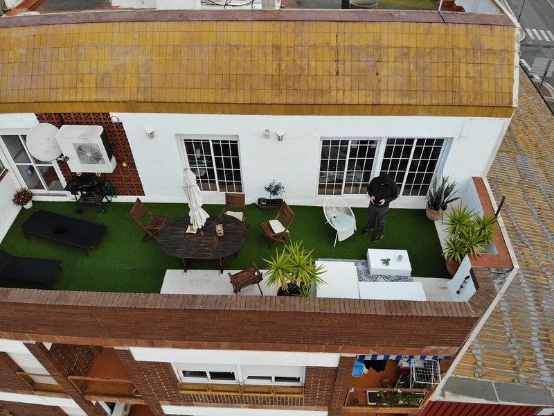 Vista panoramica de la terraza