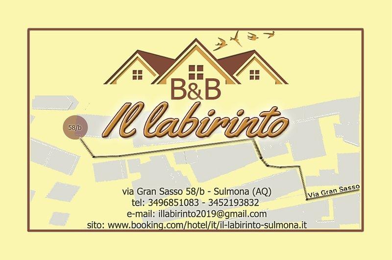 B&B IL LABIRINTO, holiday rental in Roccacasale