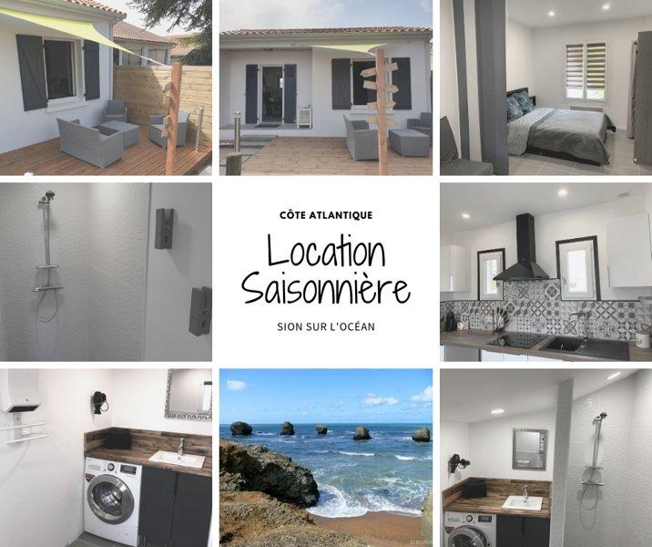 Maison 4 couchages, casa vacanza a Saint-Hilaire-de-Riez