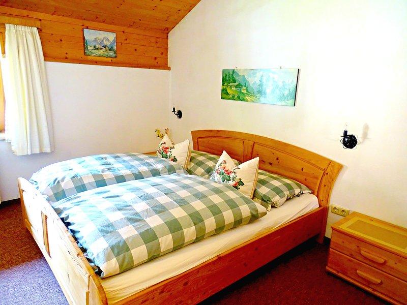 Kind size bed in bedroom