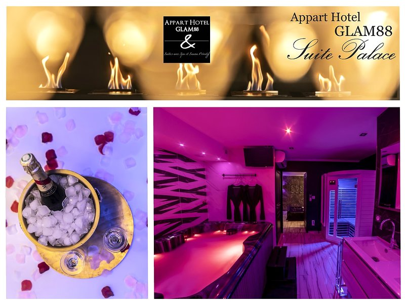 Appart hotel GLAM88 suites avec Spa et sauna privatif, holiday rental in Hadol