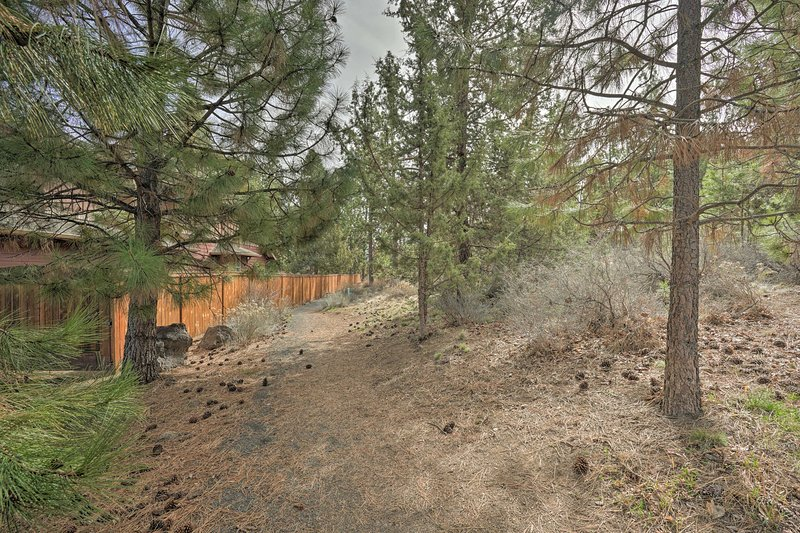 The private backyard backs into a walking trail for you to enjoy.
