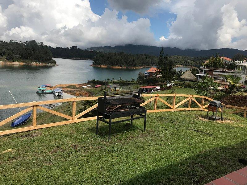 Vista al lago de uso común de las habitaciones