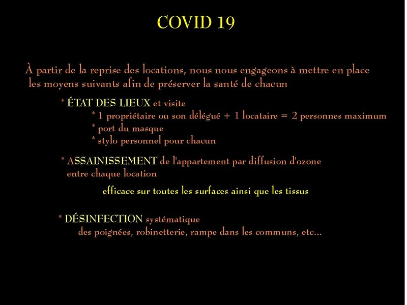 COVID 19: informations sanitaires