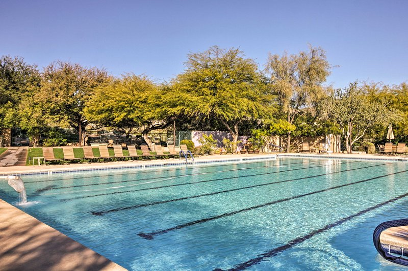 Dive into relaxation at the community pool.