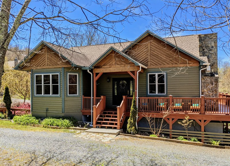 Located right off the Blue Ride Parkway.