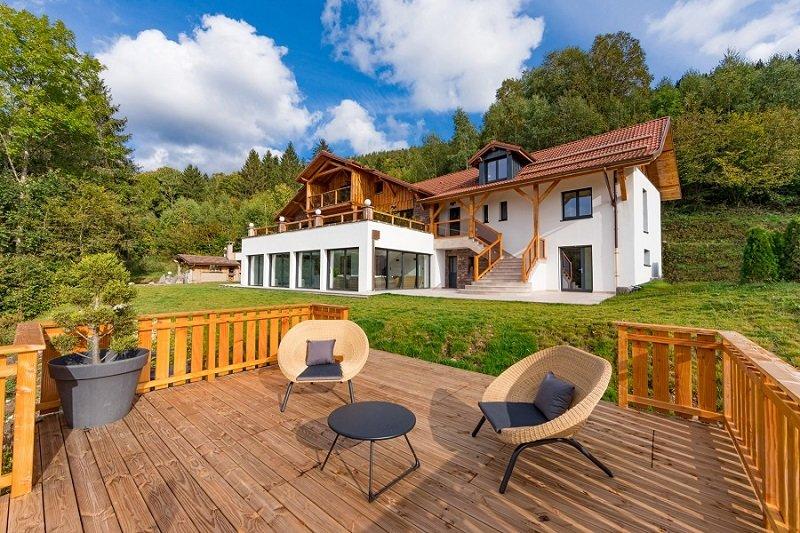 Le Lodge à Ventron : chalet d'exception avec piscine intérieure, holiday rental in Oderen