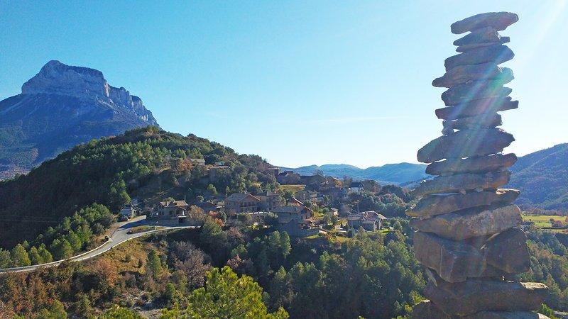 Pueblo de Belsierre donde está Casa Pirinea.