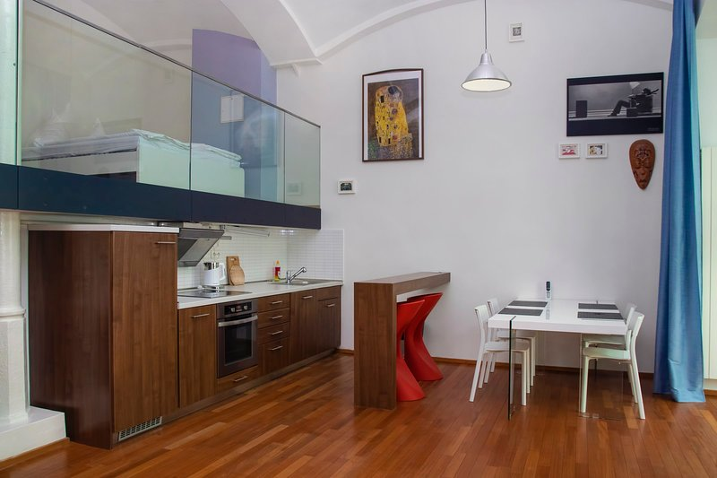 Modern apartment with terrace in the heart of Karlin by easyBNB, holiday rental in Prague