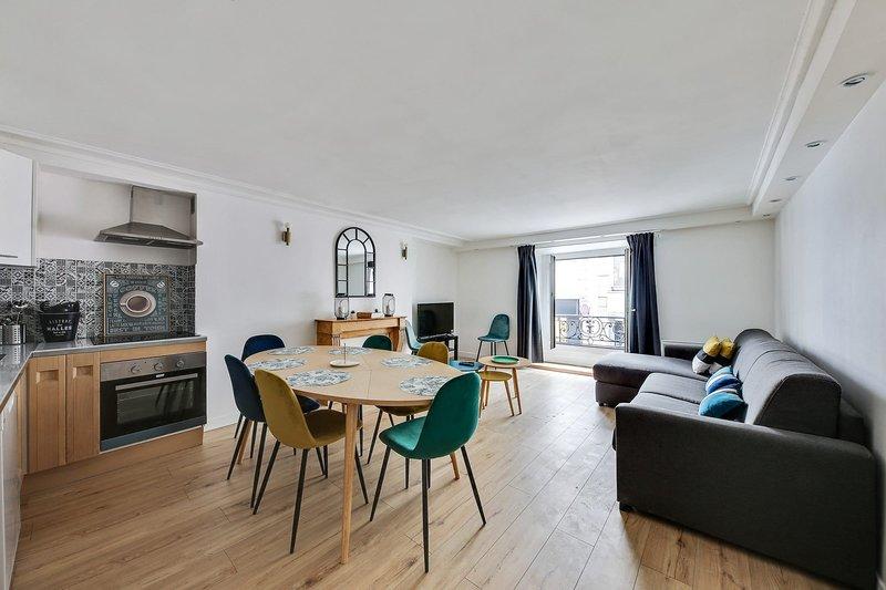 112-Suite PATRICK,Design 3BDR Flat, Best Loc Paris, alquiler de vacaciones en París