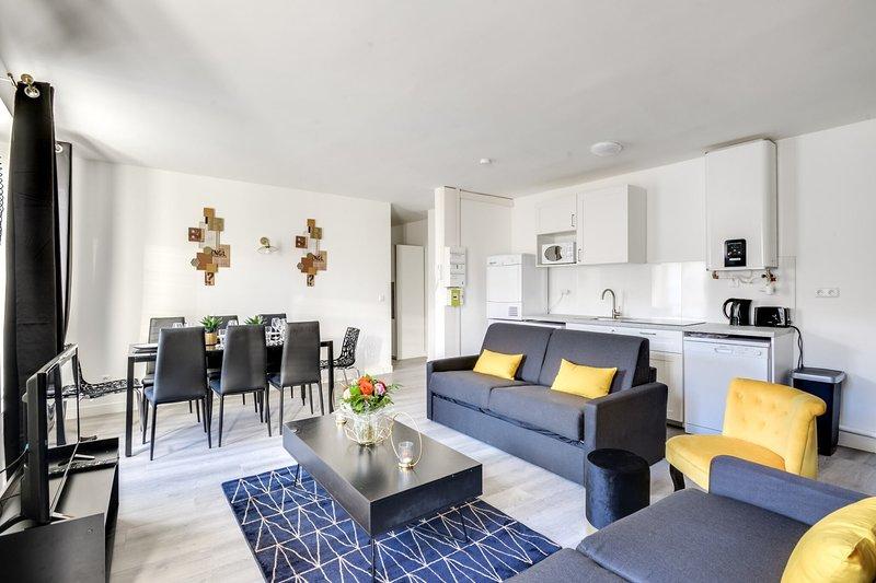 802 Suite Lovely, Somptuous APT, Door of Paris, location de vacances à Seine-Saint-Denis