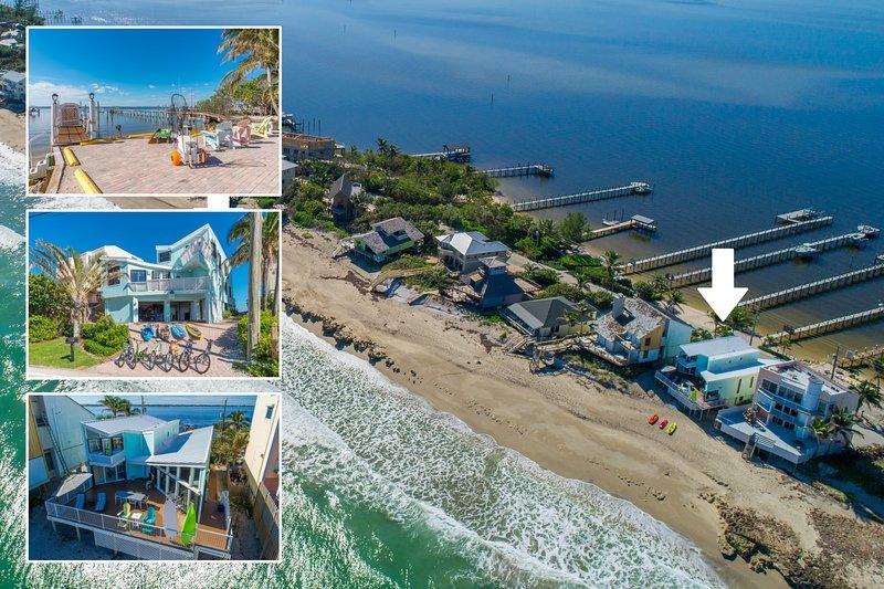 'Family Tides': Ocean-to-River SE Florida Beach House 7BR/6 BA, +Pool +Priv.Dock, alquiler vacacional en Hobe Sound
