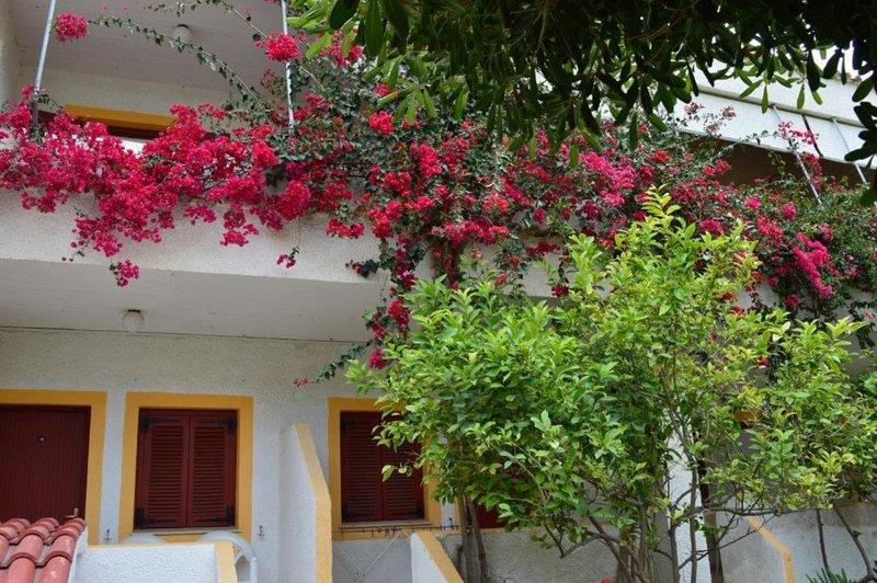 Family Apartment with Garden View, alquiler vacacional en Melissaki