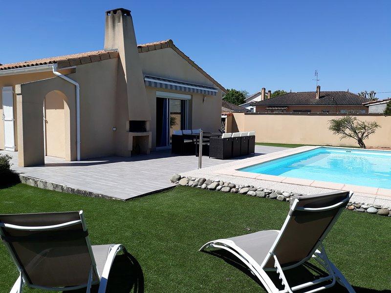 Villa proche de Bordeaux au cœur des Gds Châteaux, casa vacanza a Arsac
