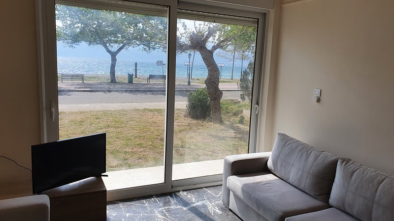 Cozy apartment on the beach of Nafpaktos, aluguéis de temporada em Drepano