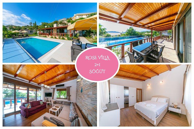 Villa Rose Sogut Marmaris Daily Weekly Rentals, holiday rental in Sogut