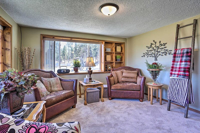 The 3-bedroom, 3-bathroom vacation rental is cozy and welcoming.