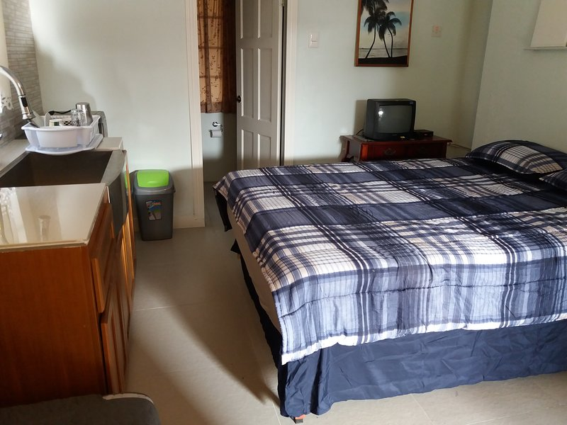 An extra bedroom with bathroom, on the same compound. This is available at a separate cost
