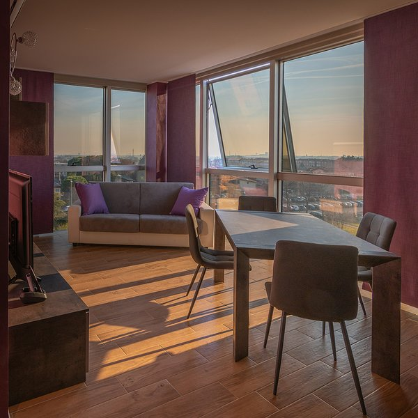 CRYSTAL TOWER M&M ap purple, holiday rental in Treviolo