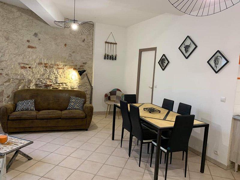 Grand Appartement 1 à 6 personnes Arles centre, aluguéis de temporada em Fourques