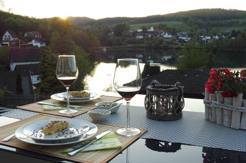 Abendstimmung über dem See