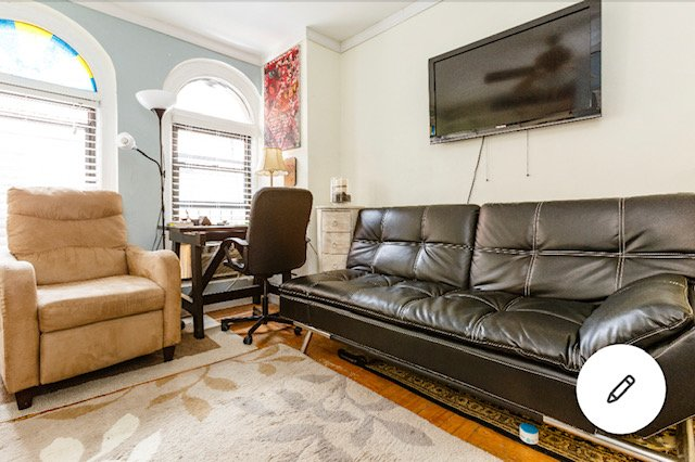 Midtown Times Square bright private room w/pvte bath, vakantiewoning in New York