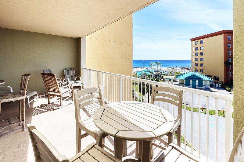 Balcony View - Azure Resort, Okaloosa Island Fort Walton Beach Vacation Rentals