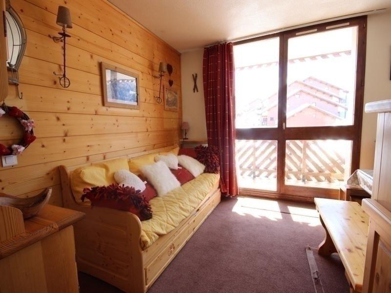 Studio cabine 4 personnes à Vallandry en centre station proche des commerces et, holiday rental in Peisey-Vallandry