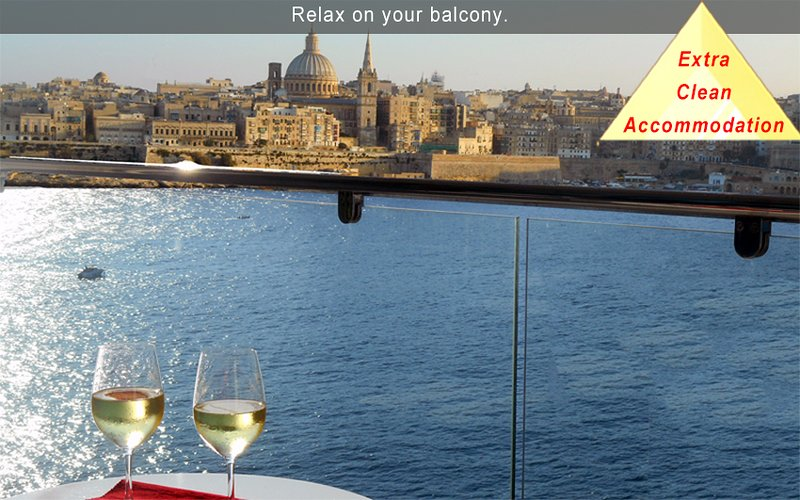 6* Your Sea Views - 3 bedroom Aptartment Malta, holiday rental in Sliema