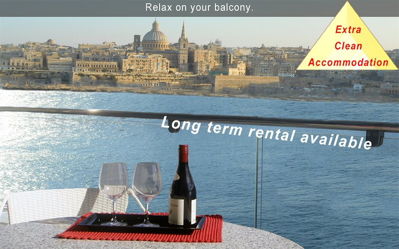 5* Your Perfect Holiday - 3 bedroom Apartment Malta, holiday rental in Sliema
