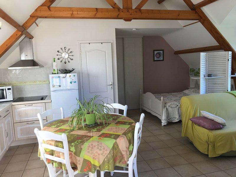 Ker Tropic studio*** au 1er étage avec jardin en RDC, vacation rental in Morbihan