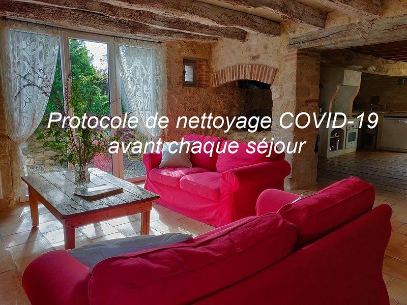À 5 mn d'Albi, la Maison de l Amandier, CHARME, CLIMATISATION, piscine CHAUFFÉE., holiday rental in Tarn