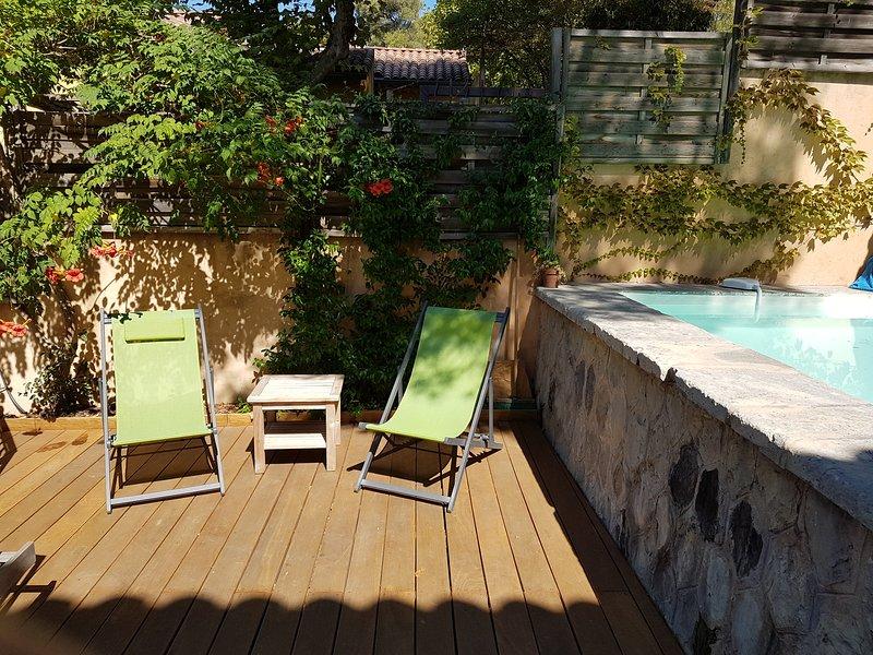 Terrasse et piscine 3m x 2m