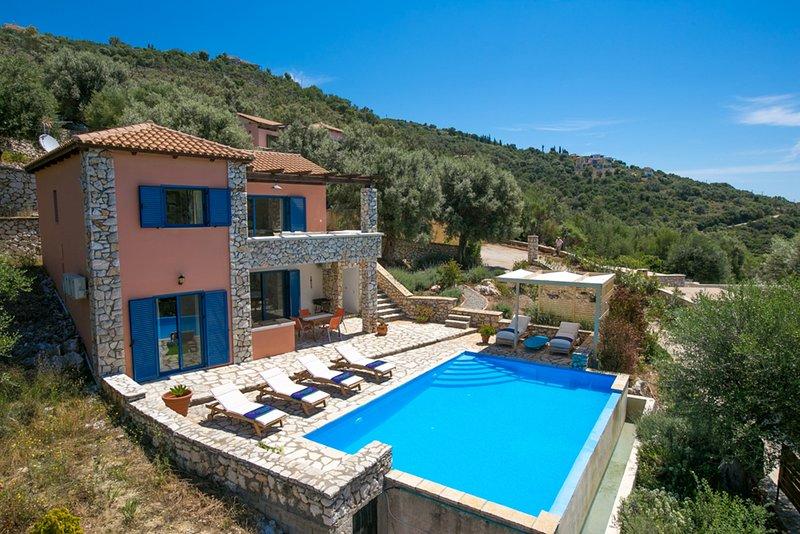Villa Tentura - Sivota Lefkadas - 3 bedrooms, private pool, sea view & BBQ, holiday rental in Sivota