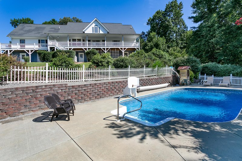 Back view of the Home with Pool