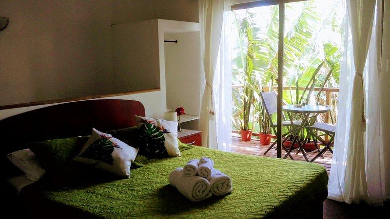 Habitación cama doble, TVLCD satelital, aire acondicionado, Wifi, balcón