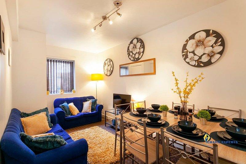 Gabriella Aprt, 3 Bedroom, Parking, City Centre, holiday rental in Nottingham