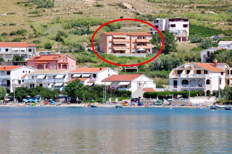 One bedroom apartment Metajna, Pag (A-18237-a), aluguéis de temporada em Metajna