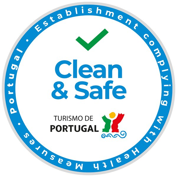 Stamp 'Clean and Safe' certified by Turismo de Portugal