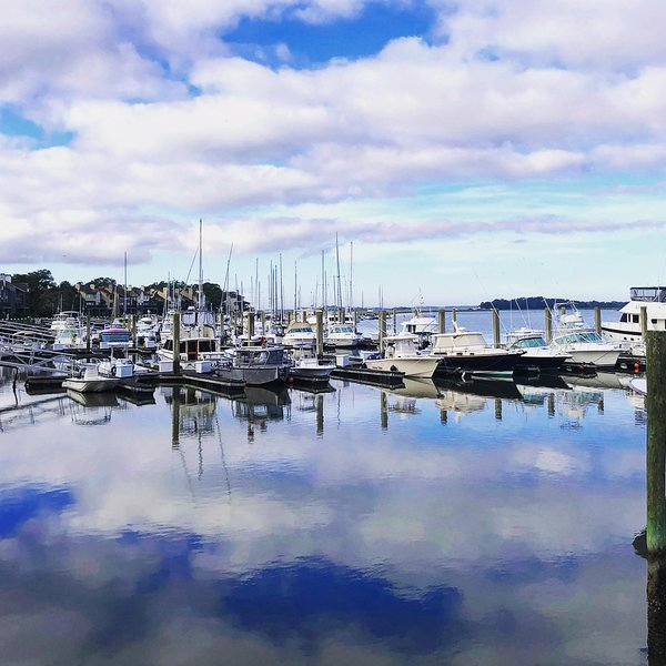 We are located a short 10 minute bike ride from beautiful Bohicket Marina