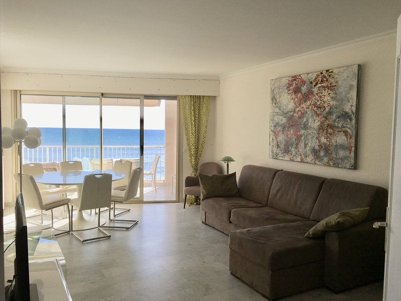 Cannes Palm Beach - Amazing sea view apartment, seafront and beachfront, vacation rental in Cannes