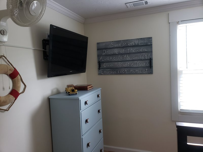 TV's in the bedrooms have firestick and streaming. Bring your own account info.