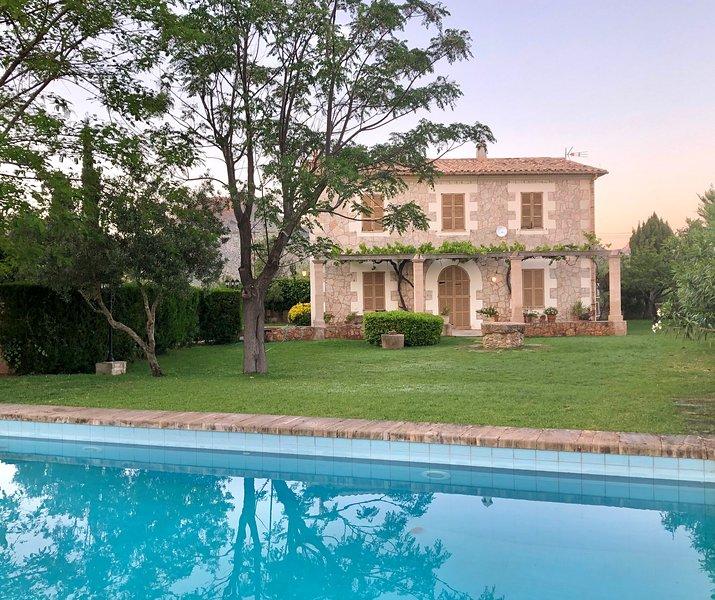 U Vilar de Pollensa. Finca rustica con piscina, location de vacances à Pollenca