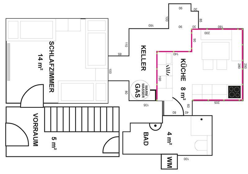 DONAUHAUS Apartment, 40 m², Schlafzimmer, Badezimmer, Küche, casa vacanza a Leonding