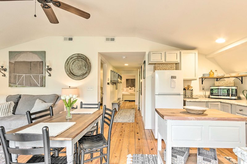 The condo features natural lighting and upscale decor.