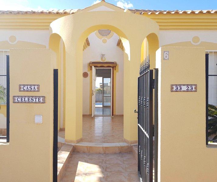 Casa Celeste, alquiler de vacaciones en Mazarrón