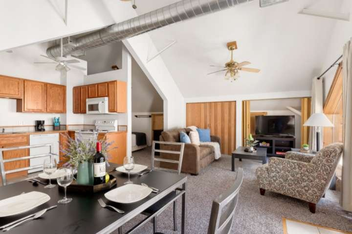 Mountaintop view | 20 mins downtown Miner Street | trailhead access - 'Studio at, vacation rental in Dumont