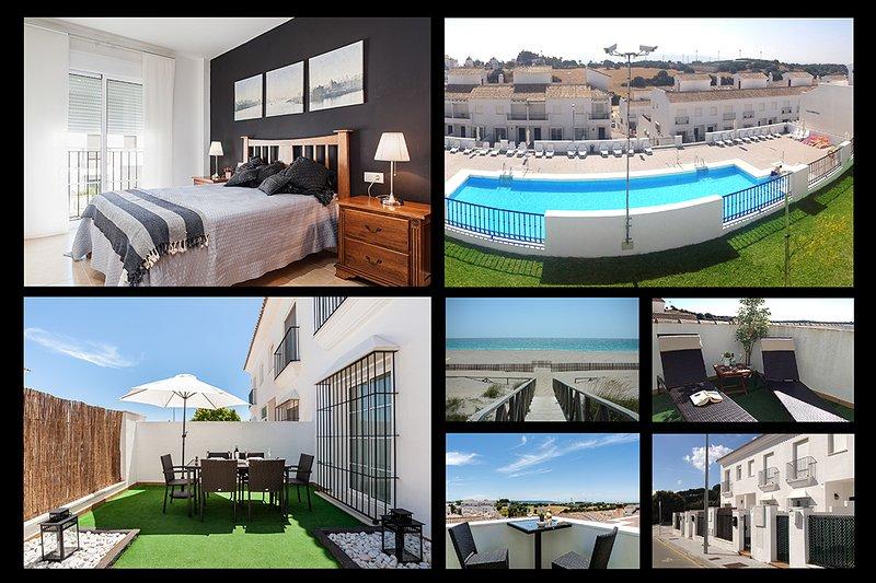 Lujoso chalet con piscina, terrazas y parking – semesterbostad i Vejer de la Frontera