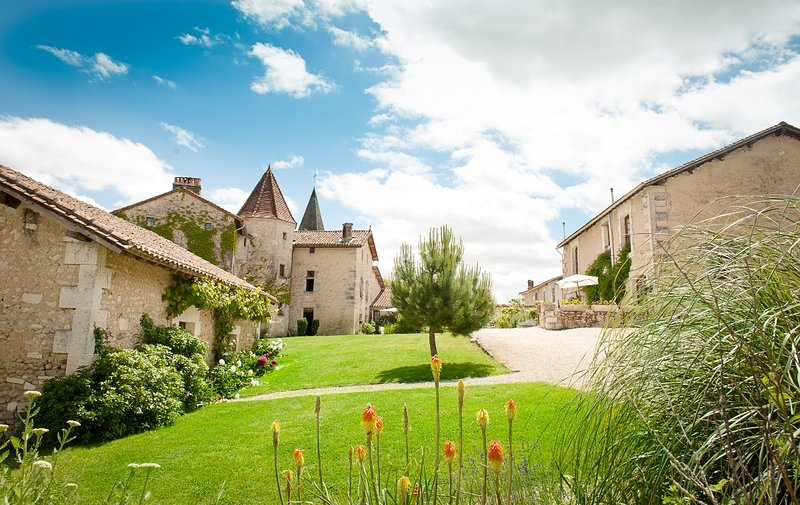 Chateau de Gurat - Coin Fleuri, 3 bedrooms | beautiful grounds | heated pools, holiday rental in Champagne-et-Fontaine